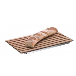 wood bread board w ss tray