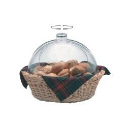 Bread -wicker basket w/double