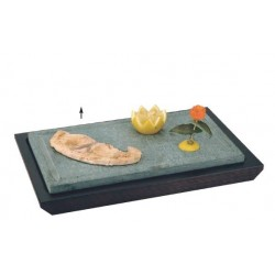Hot stone for table wooden bas