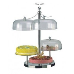 Turning cake stand W/three pla