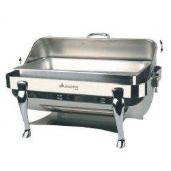 Rect., st st 18/8 chafing dish