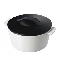 Round cocotte Stain black