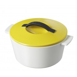 Round cocotte seychell yellow