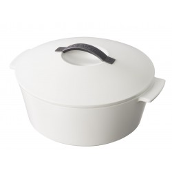 Round cocotte Stain white