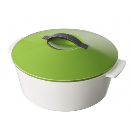 Round cocotte lime green