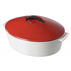 oval cocotte pepper red