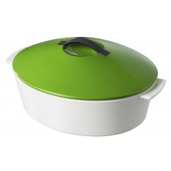oval cocotte,lime green