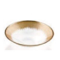 orizzonte bowl 33cm clear gold