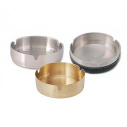 round ashtray brass heavy du
