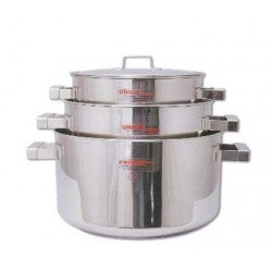 COOKING POT W/ LID SS 26x15.