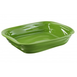 Crumple Rectan. Dish limegreen