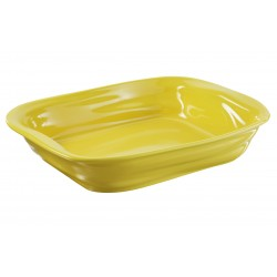 Crumple Rectang. Dish yellow