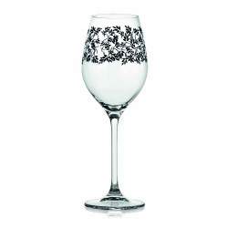 Wine glass cl.36  Black decoration