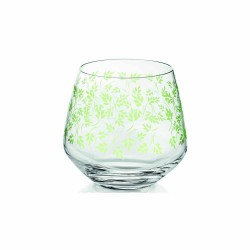 Water Tumbler cl.39  Clear green decoration