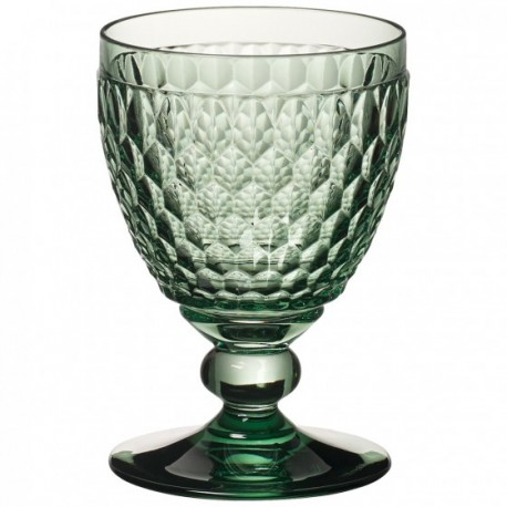 Boston Colored Claret Glass, Green 11 oz