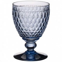 Boston coloured Water goblet blue 144mm